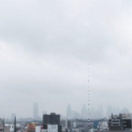 雲が泣いています。